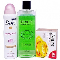 Pears Body Wash & Soap With Dove Body Spray