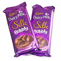 Cadbury Dairy Milk Silk Bubbly x 2