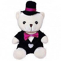 Lovely Groom Teddy Bear - 7 Inches