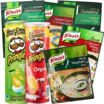 Assorted Soup (5 Flavors) and 2 Popular Pringles Flavors