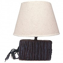 Rectangle Shaped Wooden Base Table Lamp