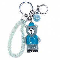 LED Light Color Changing Teddy Key-ring (Blue)