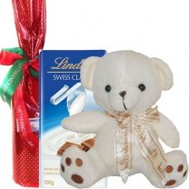 Chocolate Bar, Teddy and Wine Bottle
