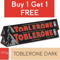 Toblerone Dark Swiss Chocolate 100g (Buy 1 Get 1 Free)