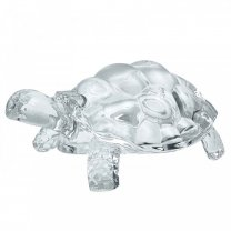 Crystal Clear Glass Tortoise - Medium