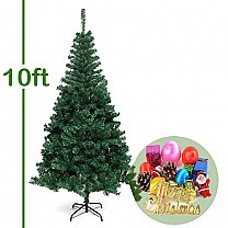 10 Feet Artificial Christmas Tree (Decorations Included)