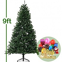 9 Feet Artificial Christmas Tree (Decorations Included)