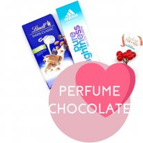 Adidas Perfume, Lindt Chocolate Bar for Her