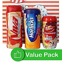 Horlicks, Viva and Chyawanprash in Beautiful Bag