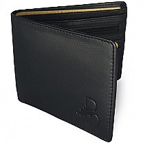 Blakes London Bi-Fold Textured Wallet For Men - Black (L)