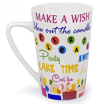 'Make A Wish Blow Out The Candle' Printed Birthday Mug