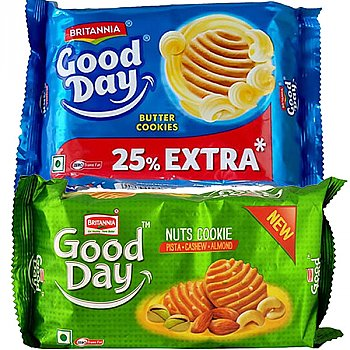Britannia Good Day Butter And Nuts Cookies Combo