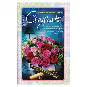 With A Warm Note Of Congrats - Greeting Card