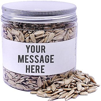 Raw Sunflower Seeds In Personalize Message Jar - 200gm