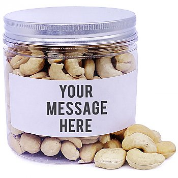 Cashew Nuts In Personalize Message Jar - 200gm
