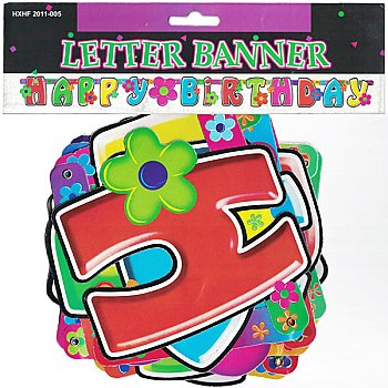 Colorful 'Happy Birthday' Letter Banner 13 Pcs (Design-5)