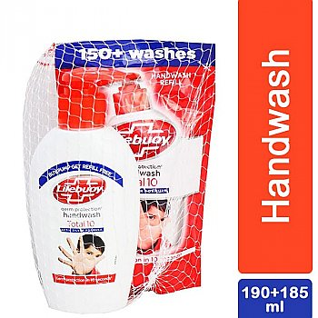 Lifebuoy Total 10 Germ Protection Handwash 190ml With Refill