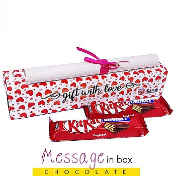 Kitkat Chunky Chocolates in Box with Your Message