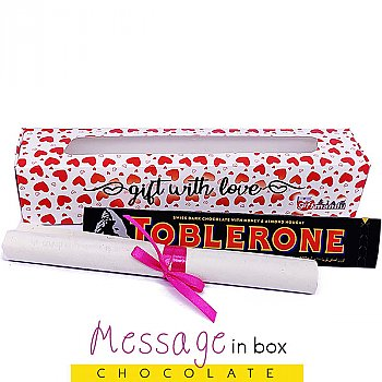 Toblerone Dark Swiss Chocolate 100g in Box with Your Message