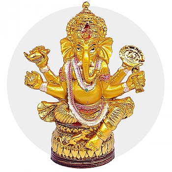 """Golden Lord Ganesh Statue for Home Decor 5"""""""