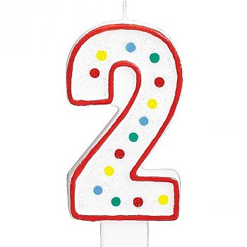 Two Number Candle For Cake