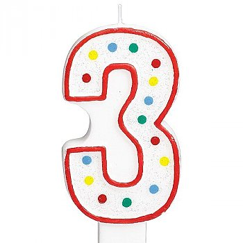 Three Number Candle For Cake