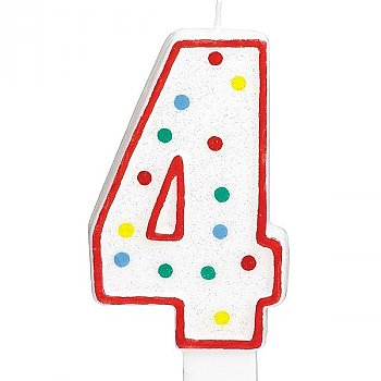 Four Number Candle For Cake