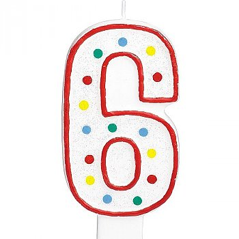 Six Number Candle For Cake