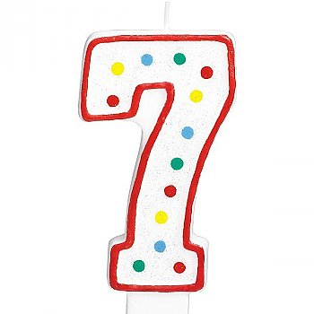 Seven Number Candle For Cake
