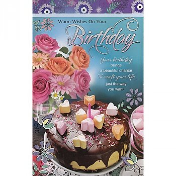 Warm Wishes On Your Birthday - Greeting Card (GC-5481)