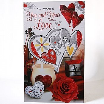 All I Want is You and Your Love - Signature Greeting Card