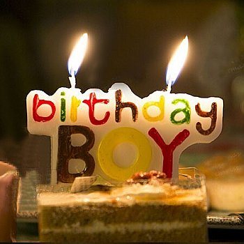 Birthday Boy Candle (For Birthday Cakes Only)