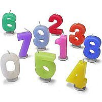 Birthday Number Candles (For Birthday Cakes Only)