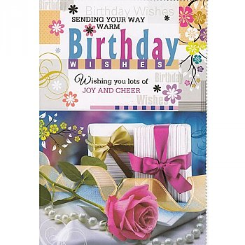 Sending Your Way Warm Birthday Wishes - Greeting Card