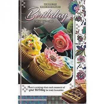 A Note TO Wish You Grand Birthday Celebration - Greeting Card