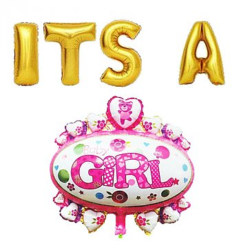 Baby Girl Theme Baby Shower Decoration Balloons