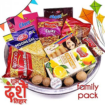 All in One Family Pack Food Hamper In Stainless Steel Bowl