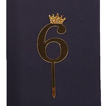 Number Cake Topper - Six '6'