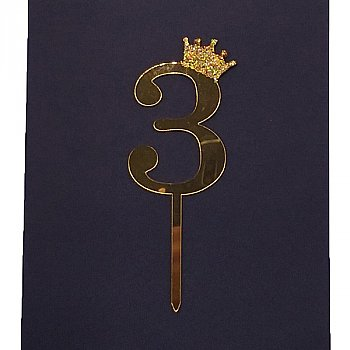 Number Cake Topper - Three '3'