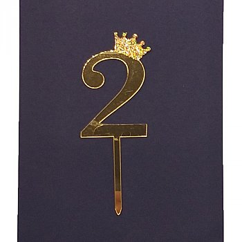 Number Cake Topper - Two '2'