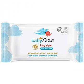 Baby Dove Baby Wipes Rich Moisture (50 Wet Wipes)