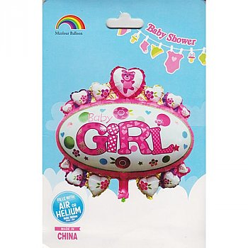 Large Baby Girl Foil Balloon For Baby Shower