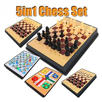 5 in 1 Creative Magnetic Chess Set for Kids 3+ yrs