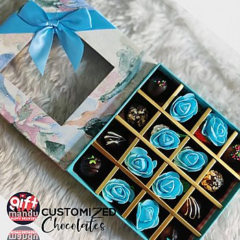 Assorted Chocolates Gift Box (Staff Pick Selection Blue Rose Theme)