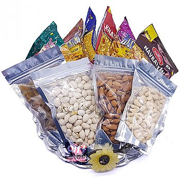 Namkeen and Dry Nuts Snack Hamper Tray