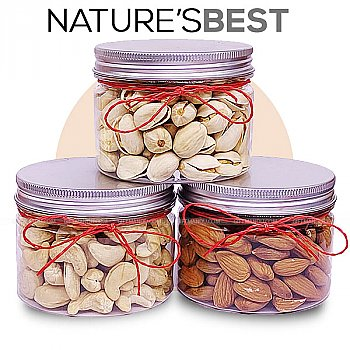 Nature's Best Dry Nuts (Cashews, Pista and Almond)