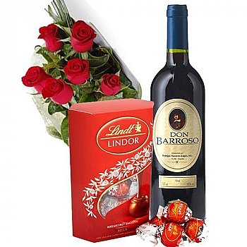 Red, red, red (Roses, Wine and Chocolates)