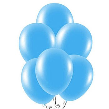 Latex Balloons Blue 10 Pieces Pack