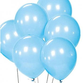 Latex Balloons Light Blue 6 Pieces Pack
