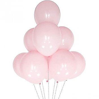 Latex Balloons Baby Pink 10 Pieces Pack